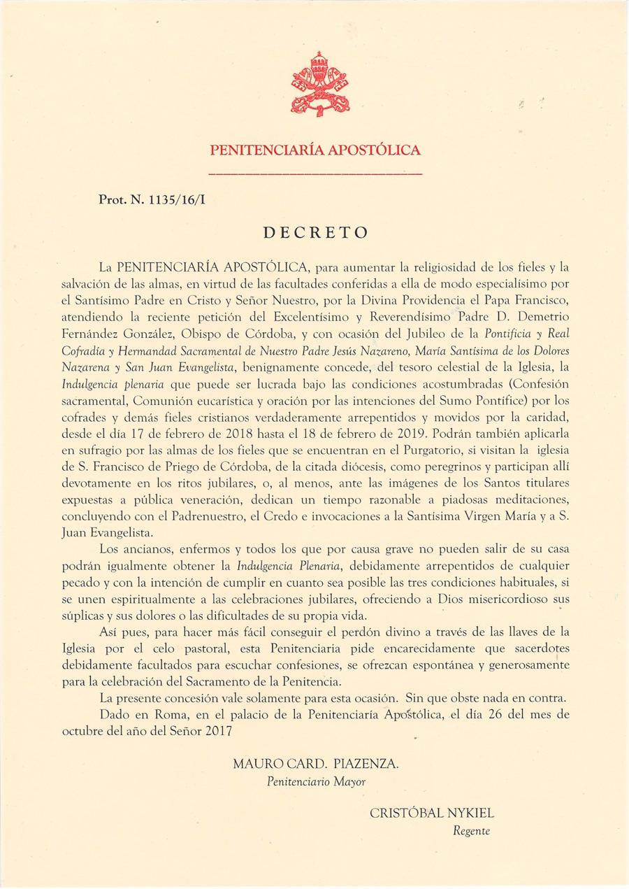 Decreto Año Jubilar Español