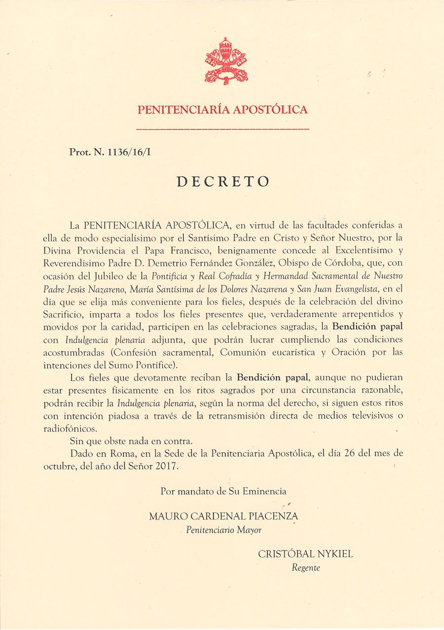Decreto Sr. Obispo en Español