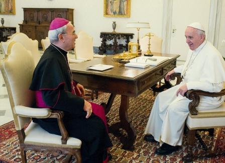El Nuncio del Papa confirma su presencia en Priego de Córdoba.