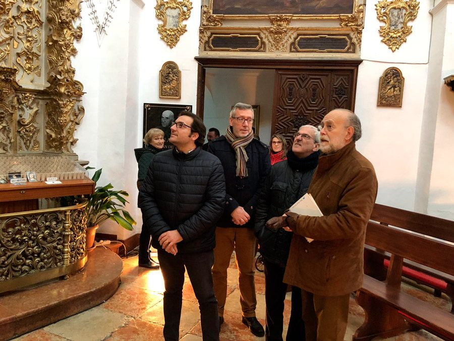"""Visita de D. Antonio Murillo Torralbo, """"Maestro Capilla"""" y D. Clemente Mata Ruiz, """"Director del Coro y Orquesta de la Catedral de Córdoba""""."""