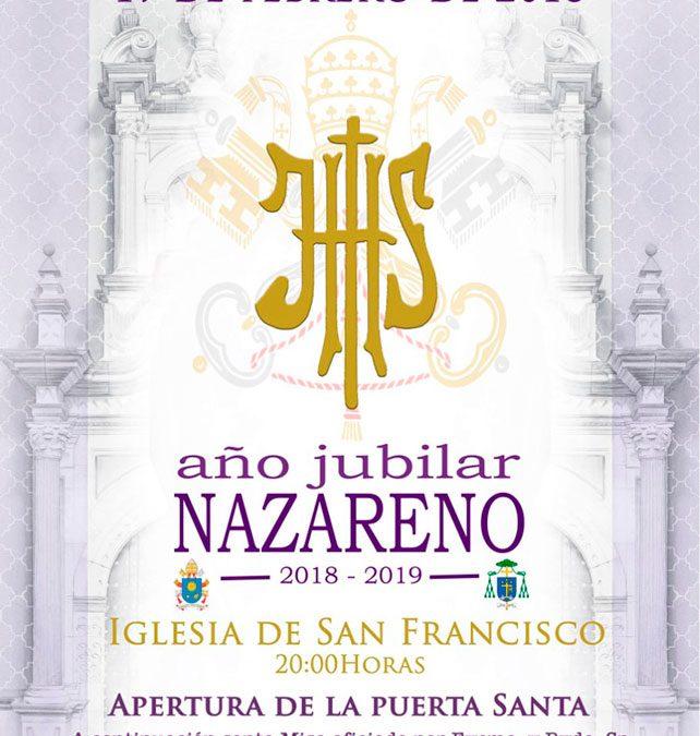 """Próxima inauguración del """"Año Jubilar Nazareno"""""""
