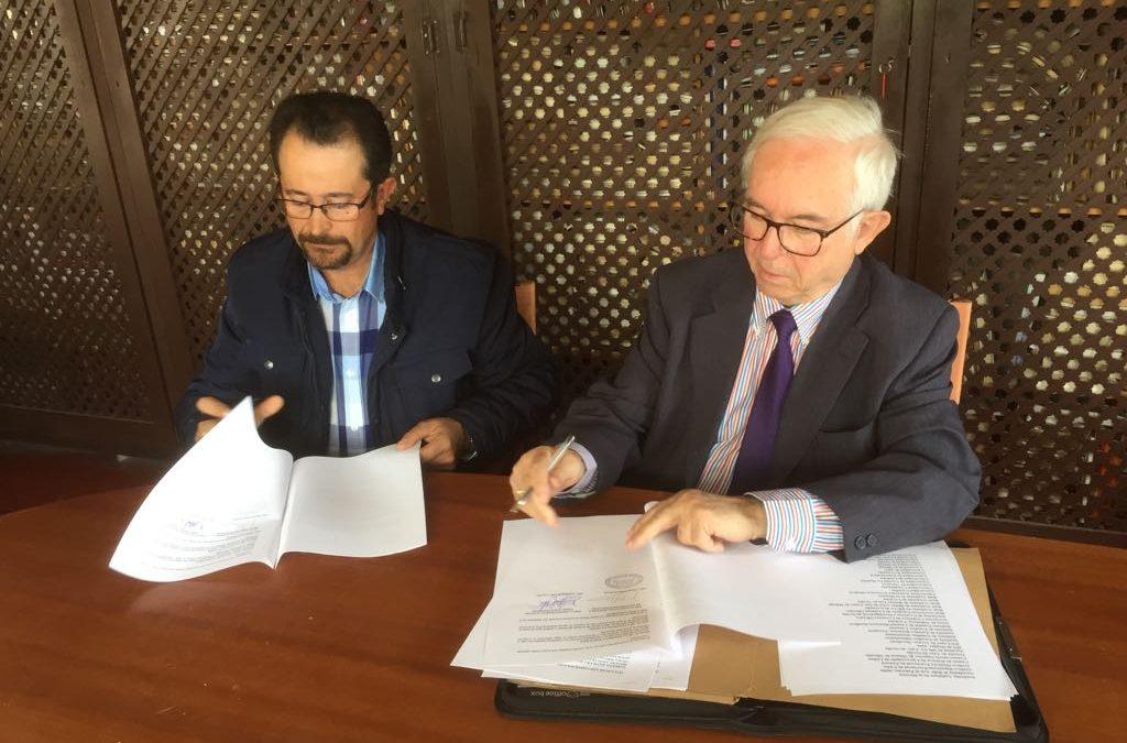"""Firma del convenio de colaboración para el """"I CONGRESO HISPANO-PORTUGUÉS"""""""