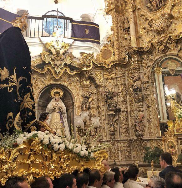 Peregrinación de laCofradía de María Stma. de los Dolores y Cristo de la Buena Muerte
