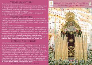 Triduo en Honor de María Stma. de los Dolores Nazarena @ Iglesia de San Francisco