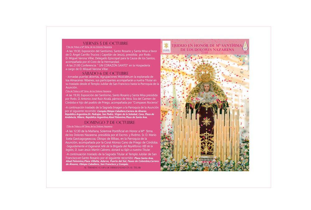 Fiestas de María Stma. de los Dolores Nazarena