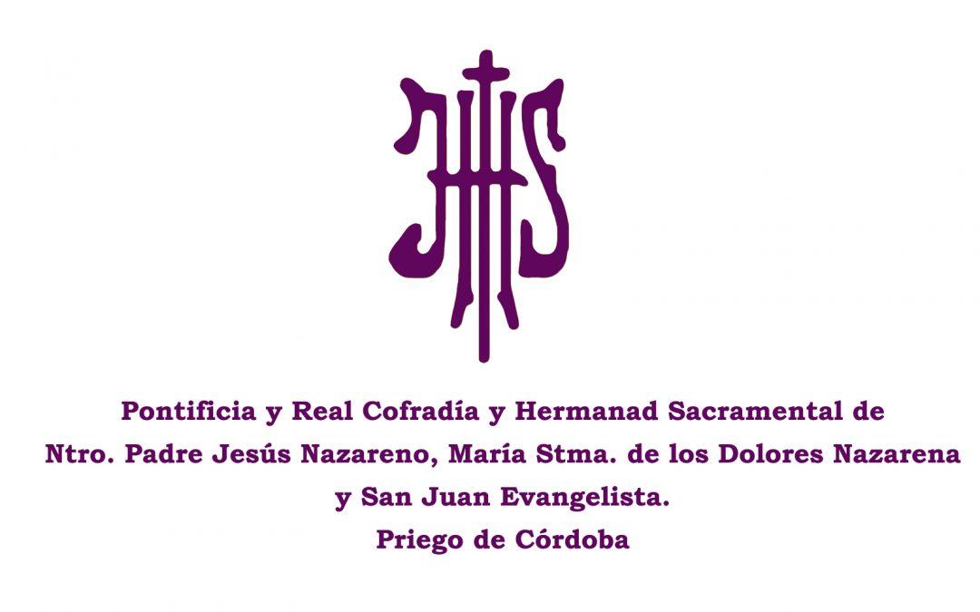 Comunicado de la Cofradía y Hermandad. Estación de Penitencia 2019