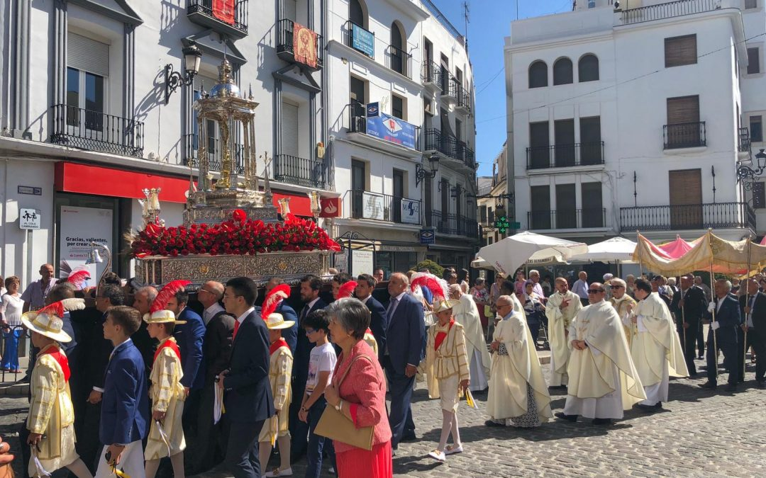Participación de la Cofradía y Hermandad en el  Corpus Christi